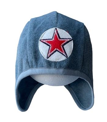 Hat speedy star fleece -  grey/blue