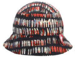 Hat tiba rand woven red/blue/white