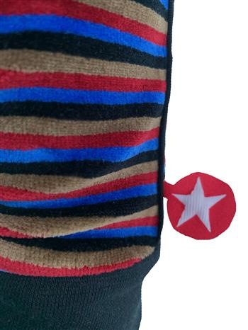 Trouser velvet stripe red/black/blue/taupe