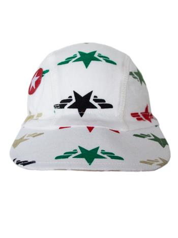 Cap jersey print star wing - white