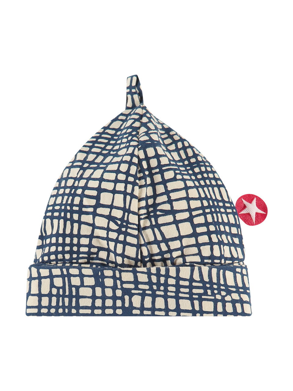 Hat kelkje jersey print d.blue/ off white