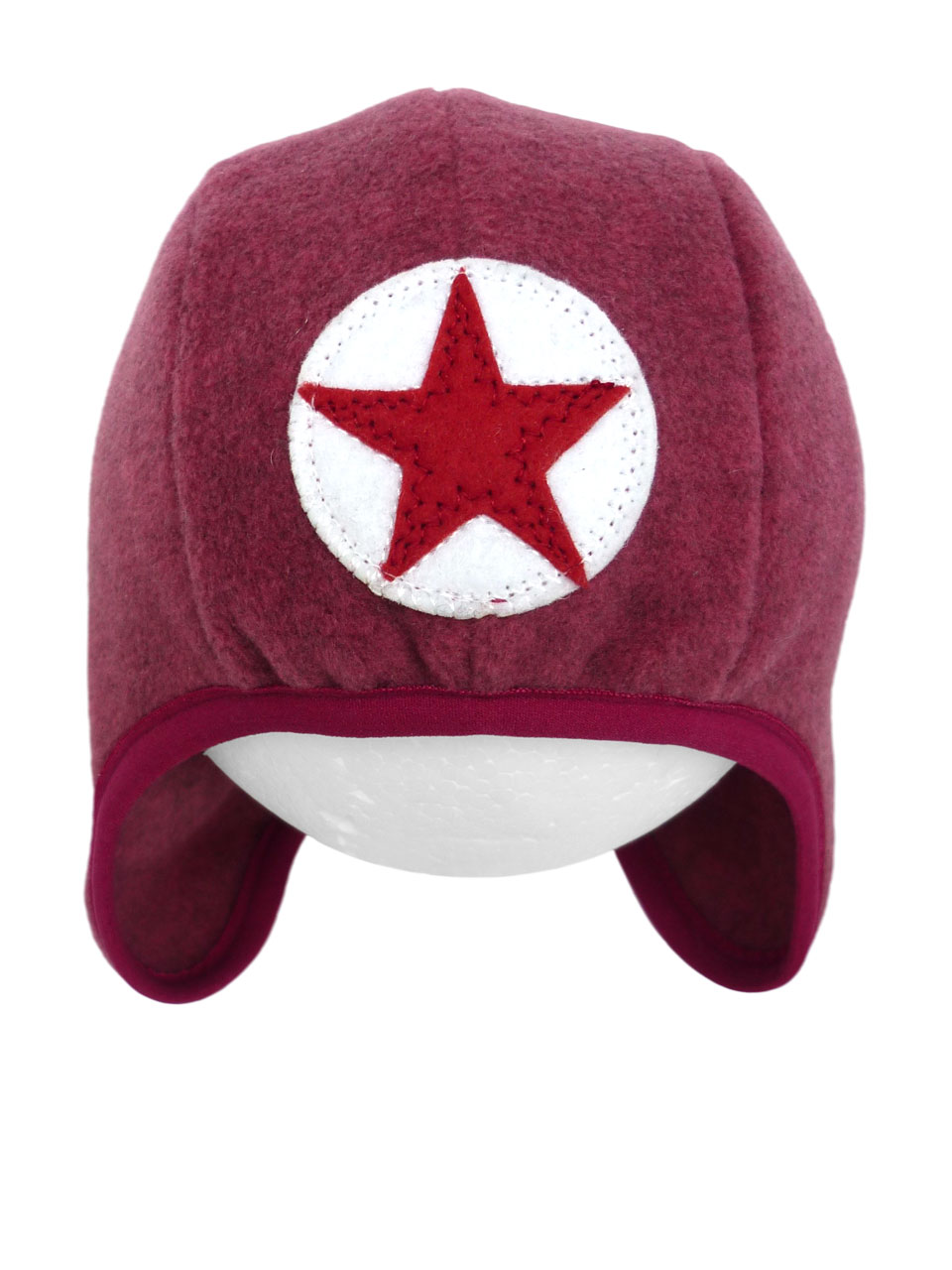 Hat speedy star fleece - dpink