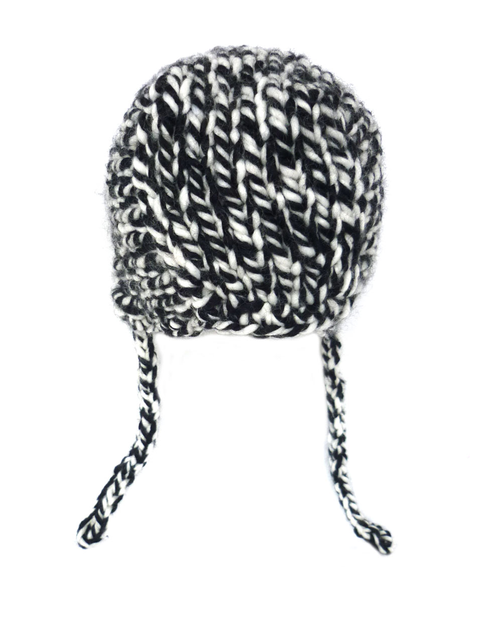 Hat Robin color knitted - black/white