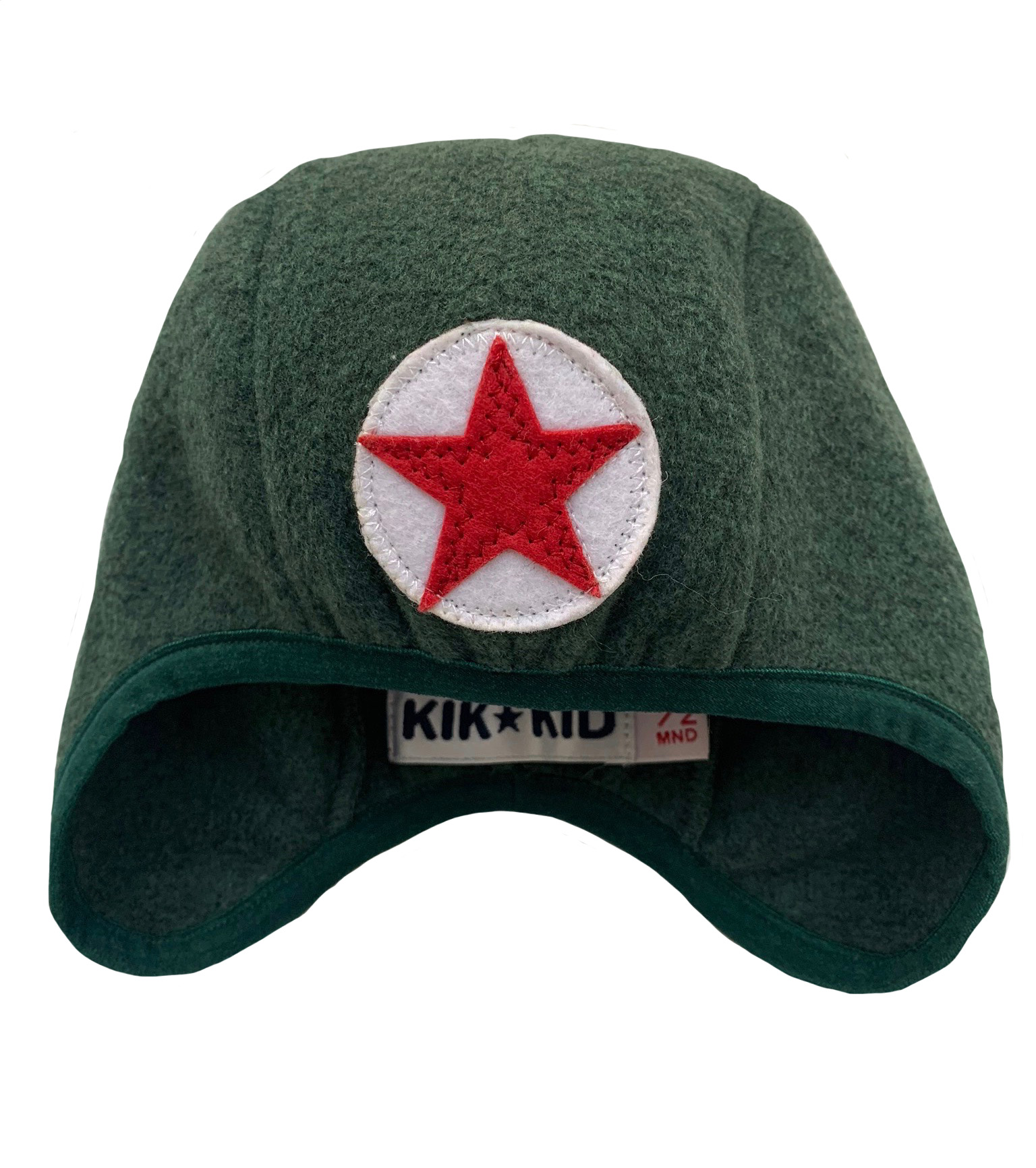 Hat speedy star fleece -  d.green