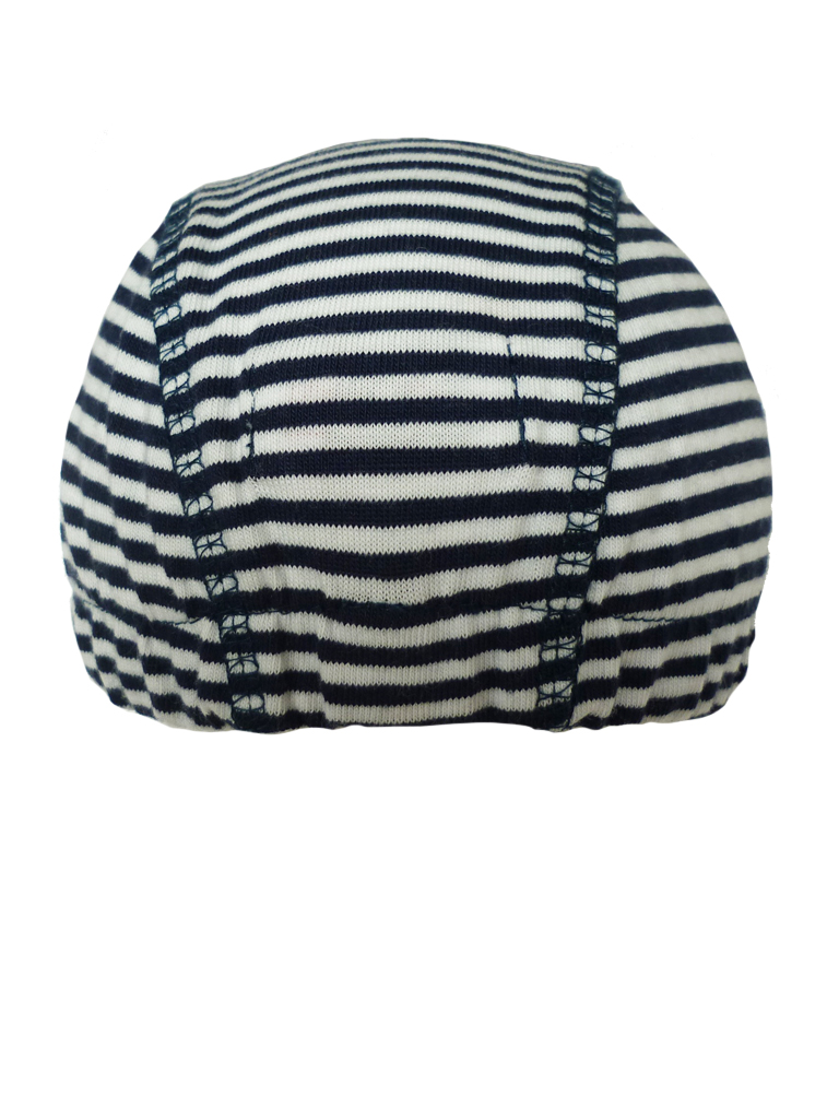 Hat cap basics - d.blue/white stripe