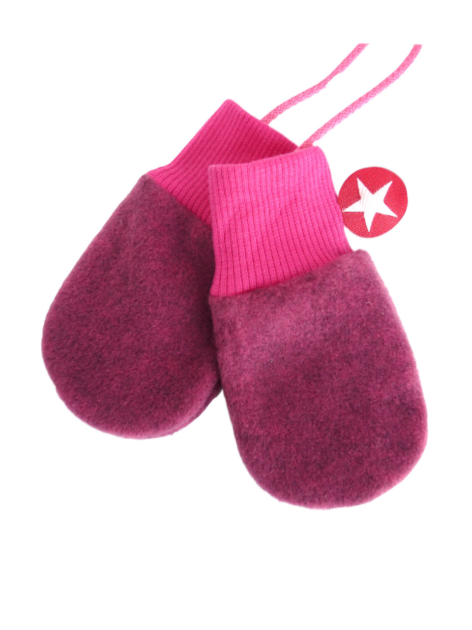 Mittens fleece - dpink